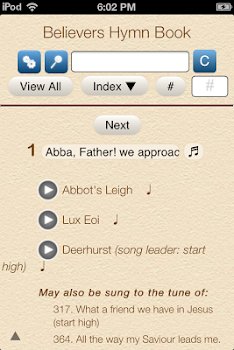 Best 10 hymn apps appgrooves discover best iphone android apps believers hymn book fandeluxe Choice Image