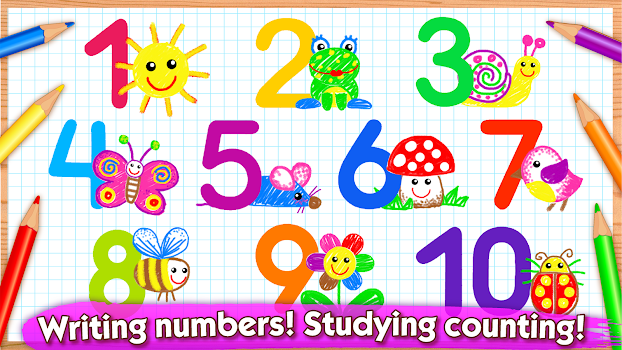 123 Draw Toddler Counting For Kids Drawing Games By Bini Bambini