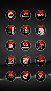 Glossy Red Icons