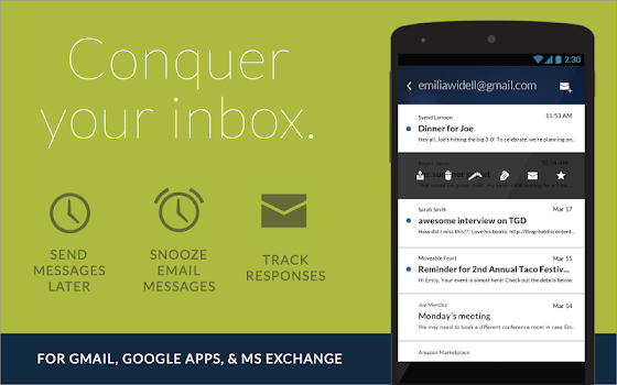 Boomerang Mail - Gmail, Outlook & Exchange Email