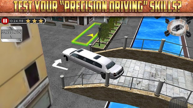3D Limo Parking Simulator Game