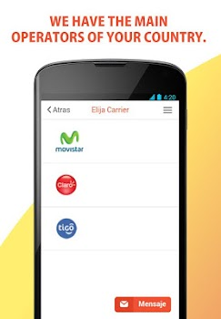 Recharge Telcel, Movistar and any Prepaid Cell