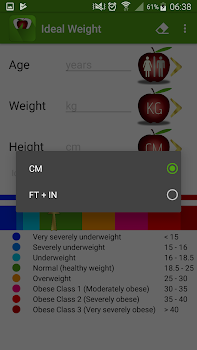 Ideal Weight and BMI Calculator