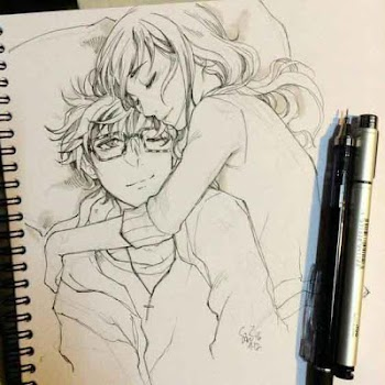 Drawing Anime Couple Ideas By Yuan Andro Fe Art Design