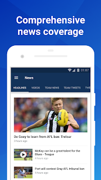 Footy Live: Live AFL scores, stats and news.