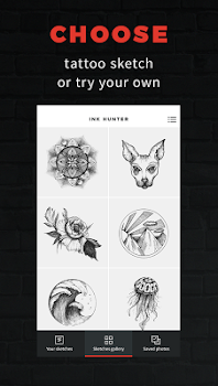 INKHUNTER - try tattoo designs