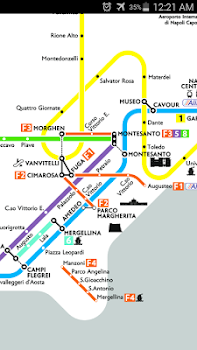 Naples Metro Rail Map by MetroMap Travel Local Category 0