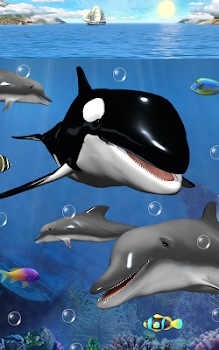 Dolphins and orcas wallpaper by cosmic mobile wallpapers dolphins and orcas wallpaper altavistaventures Images
