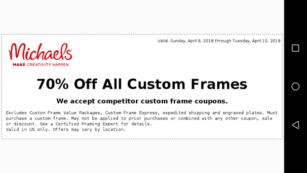 Coupons for Michaels - by Aries Y Software - Shopping Category - 141 ...