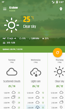 Simple weather & clock widget (No ads)