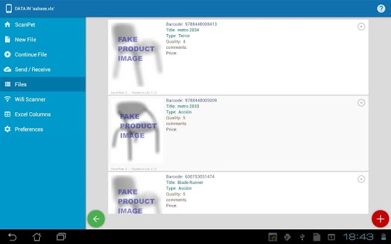Inventory & barcode scanner & WIFI scanner