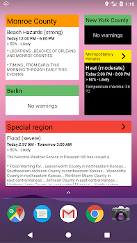 Severe Weather! (weather warnings)