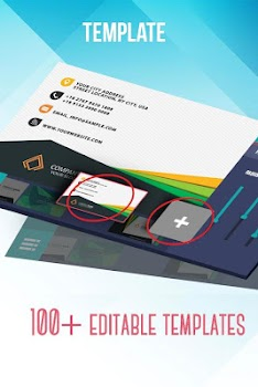 Best 10 apps for designing business cards appgrooves discover business card maker creator wajeb Choice Image