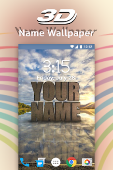 3d My Name Live Wallpaper By Photo Editor Solution