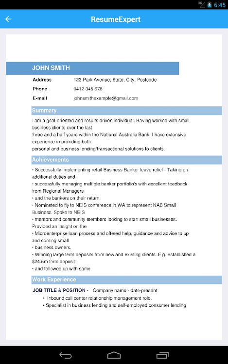 Resume Builder Pdf Cv Maker For Your Job Search By Talent