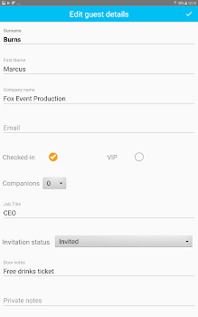 event guest check in app 1 guest list software by snafflz