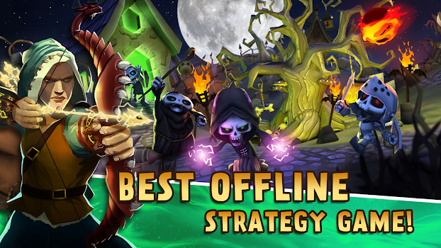 Skull Towers: Best Offline Games Castle Defense