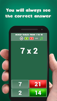Multiplication tables - free math game