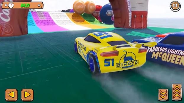 Superhero Ultimate Cars Highway lightning Racing