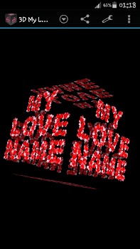 3D My Name Love Live Wallpaper