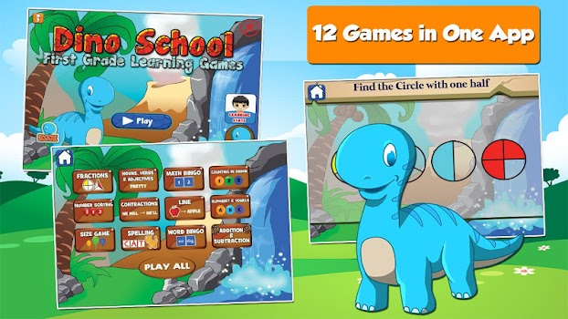 Dino 1st Grade Learning Games