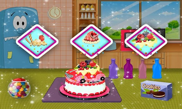 Car Cake Maker Cooking Food Decoration Game