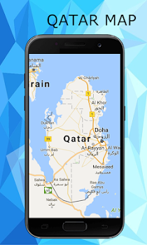 Qatar map by Free World travel maps Travel Local Category 0