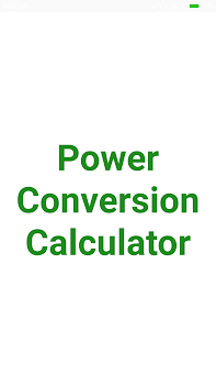 Power Conversion Calculator