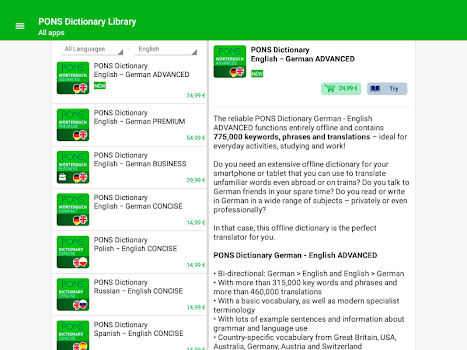PONS Dictionary Library - Offline Translator