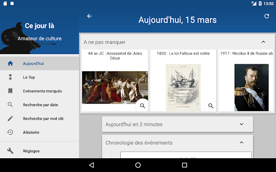 Today in History (French google translated)