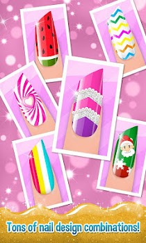 Nail Art Shiny Design Salon - Sweet Girls Manicure