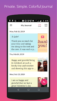 Gratitude journal - private diary & affirmations