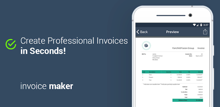 invoice and billing app estimate on the go by glowing stars apps