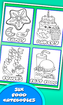 Coloring Book For Food Kitchen