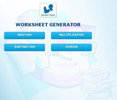 Math Worksheet Generator - by Learners\' Planet - Education Category ...