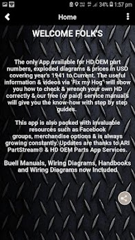 Harley OEM Parts Stream App